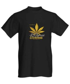 T-shirt verde do cannabis de 420